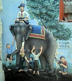 Five blind men with an elephant